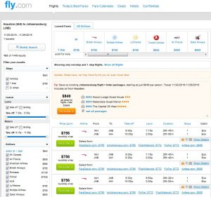 IAH-JNB: Fly.com Search Results ($768)