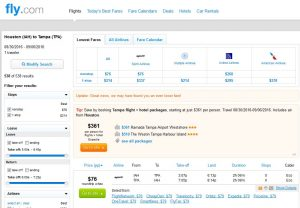 IAH-TPA: Fly.com Search Results