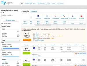 MSP-SYD: Fly.com Search Results ($870)