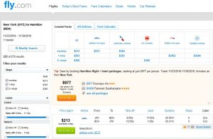 NYC-BDA: Fly.com Search Results