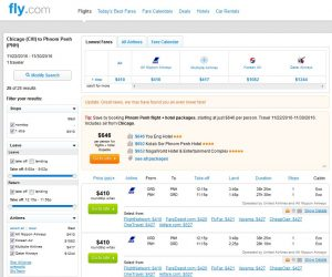 CHI-PNH: Fly.com Search Results