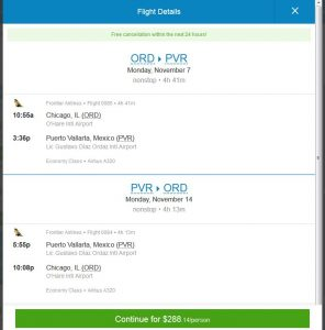 CHI-PVR: Priceline Booking Page