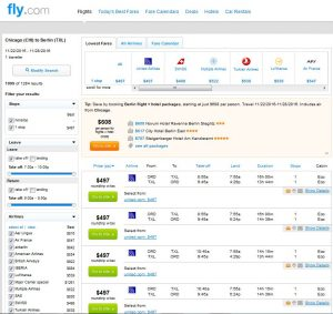 CHI-TXL: Fly.com Search Results