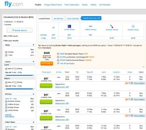 CLE-BOS: Fly.com Search Results ($97)