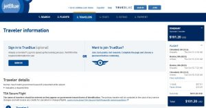 CLE-BOS: JetBlue Booking Page ($102)