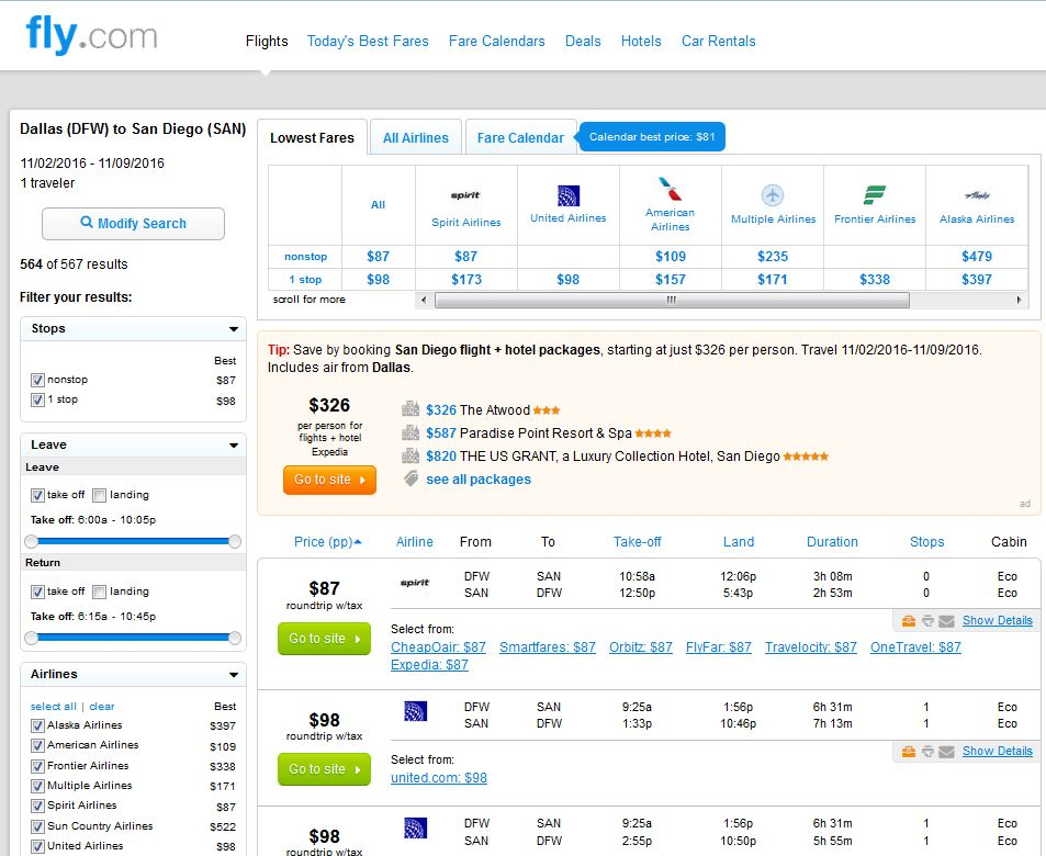 Cheap Flights from San Diego to Dallas - FareCompare.com