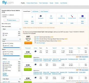 IAH-PVR: Fly.com Search Results