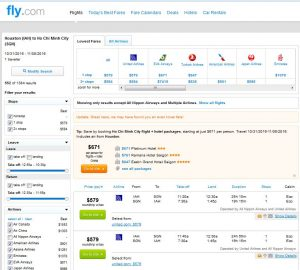 IAH-SGN: Fly.com Search Results ($579)