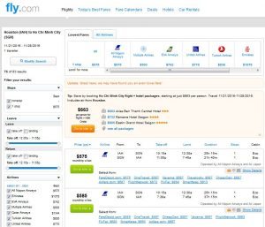 IAH-SGN: Fly.com Search Results ($587)