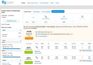 IAH-STX: Fly.com Search Results