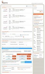 LAX-JNB: Vayama Booking Page (MAR)