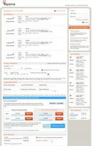 LAX-JNB: Vayama Booking Page (NOV)