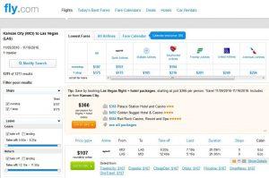 MCI-LAS: Fly.com Search Results ($107)