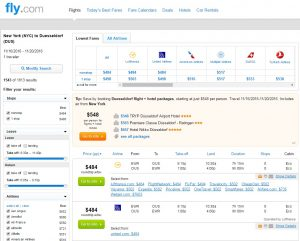 NYC to Dusseldorf: Fly.com Results