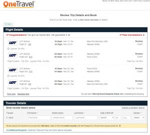 NYC to Paris: One Travel Booking Page