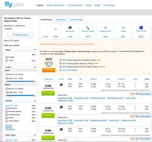 SAT-PVR: Fly.com Search Results