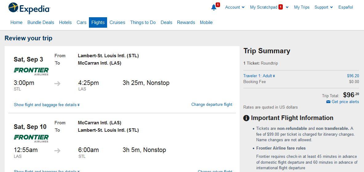 93 107 Kansas City Amp St Louis To Las Vegas Nonstop