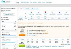 STL-LAS: Fly.com Search Results