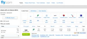 Atlanta to Orlando: Fly.com Results