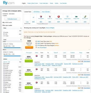 CHI-BKK: Fly.com Search Results