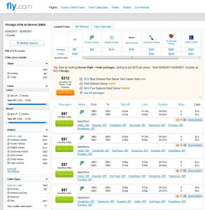 CHI-DEN: Fly.com Search Results