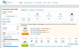 CHI-DEN: Fly.com Search Results ($49)