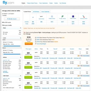 CHI-DEN: Fly.com Search Results ($80)