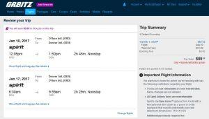 CHI-DEN: Orbitz Booking Page ($80)