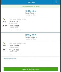 CHI-DEN: Priceline Booking Page