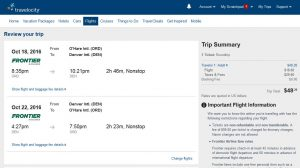 CHI-DEN: Travelocity Booking Page ($49)