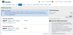 CHI-FLL: Expedia Booking Page ($90)