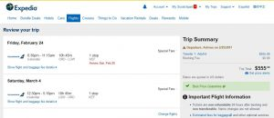 CHI-LON: Expedia Booking Page