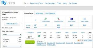 CHI-MIA: Fly.com Search Results