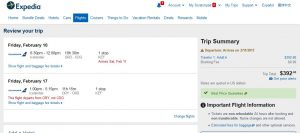 CHI-PAR: Expedia Booking Page