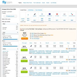 CHI-PAR: Fly.com Search Results ($416)