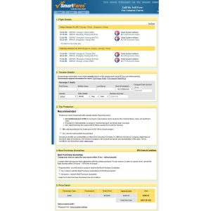 CHI-SIN: SmartFares Booking Page