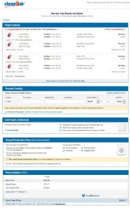 CHI-TPE: CheapOair Booking Page