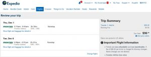DEN-CHI: Expedia Booking Page