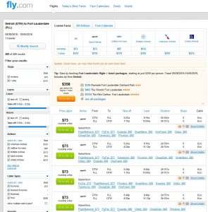 DTW-FLL: Fly.com Search Results ($80)