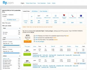 DTW-FLL: Fly.com Search Results ($89)