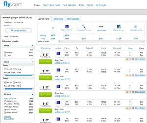 IAH-BOS: Fly.com Search Results