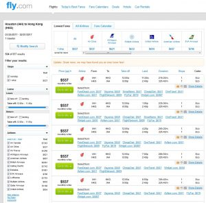 IAH-HKG: Fly.com Search Results