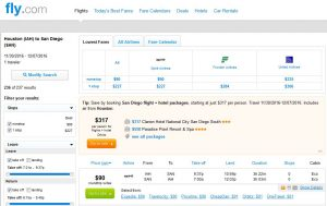 IAH-SAN: Fly.com Search Results ($90)