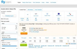 IAH-TPA: Fly.com Search Results ($81)