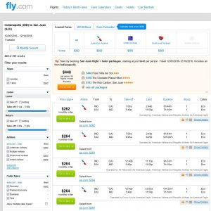 IND-SJU: Fly.com Search Results