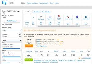 MCI-LAS: Fly.com Search Results