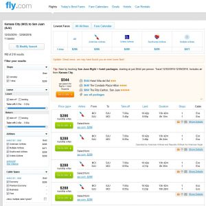 MCI-SJU: Fly.com Search Results