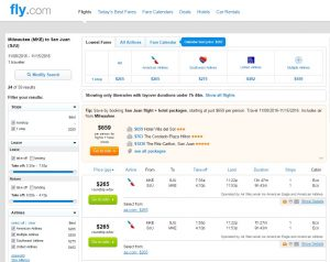MKE-SJU: Fly.com Search Results