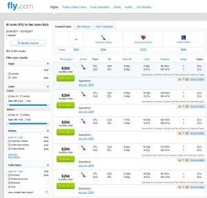 STL-SJU: Fly.com Search Results