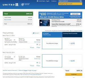 San Francisco to Auckland: United Booking